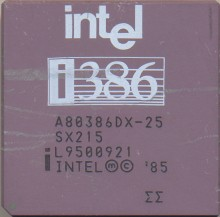 Intel A80386DX-25 IV SX215 'Double sigma'