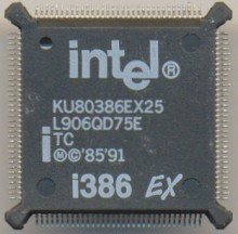 Intel KU80386EX25 'TC' 'White print'