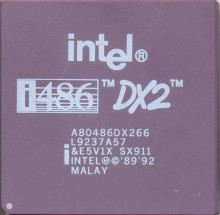 Intel A80486DX2-66 SX911 White print