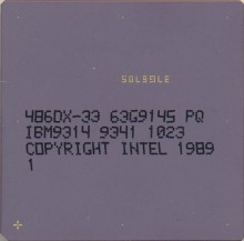 IBM 486DX-33 63G9145 'No Intel logo'