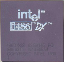 IBM 486DX-33 63G9145 'With Intel logo'