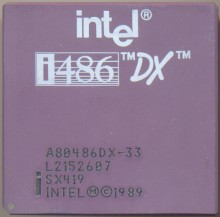 Intel A80486DX-33 SX419 'New logo'