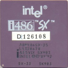 Intel A80486SX-25/33 SX903/SK903 'Remarked by Intel'
