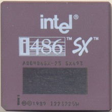 Intel A80486SX-25 SX693 'Remarked SX-20'