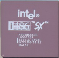 Intel A80486SX33 white print