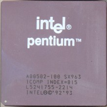 Intel A80502-100 SX963 (TM)